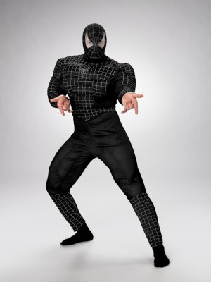 Teen Deluxe Black Muscle Spider-Man