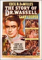 Story of Dr. Wassell Gary Cooper morgan litho 1944 Linen backed