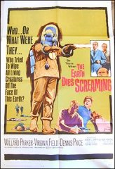Earth Die's Screaming Great Graphics one sheet 1964