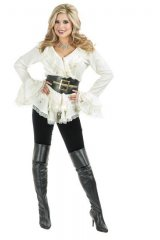 Pirate South Sea's Off White BLOUSE w/ BELT Costume