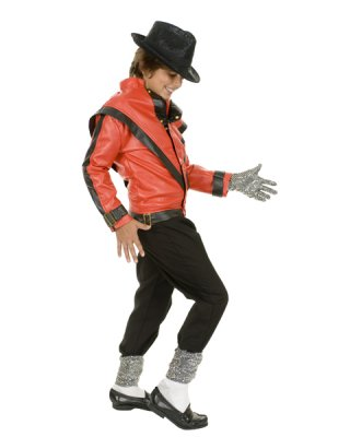 Michael Jackson RED THRILLER DELUXE JACKET Child Costume **IN STOCK**