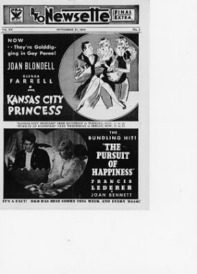 Kansas City Princess Joan Blondell Pursuit of Happiness Francis Ledeher