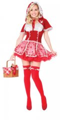 PLAYBOY Licensed Costume LITTLE RED VIXEN XS, S, M