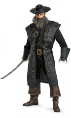 Disney Pirates of the Caribbean Blackbeard Adult Deluxe Costume