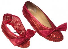 Adult Wizard of Oz Sequin Shoe Cover
