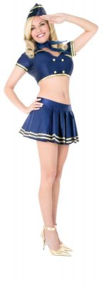 PLAYBOY Licensed Costume CLASSIC STEWARDESS XS, S, M