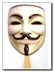 V for Vendetta Guy Fawkes mask used promote the movie. Purchased from Collector. Mint Never Used.