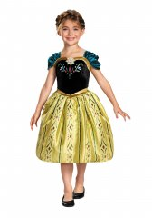 Frozen Anna Classic Coronation Gown Girls Costume