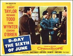 D-DAY THE SIXTH OF JUNE #7 from the 1956 movie. Staring Robert Taylor, Edmond O'Bria