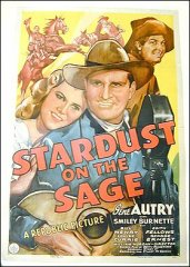Stardust on the Sage Gene Autry 1942 ORIGINAL LINEN BACKED 1SH