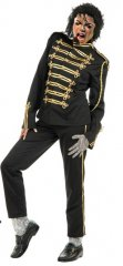 Michael Jackson Black or Red Military Prince Jacket Deluxe Adult Costume PRE-SALE