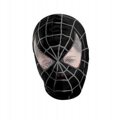Black suited Spider-Man Deluxe Fabric Nylon Mask