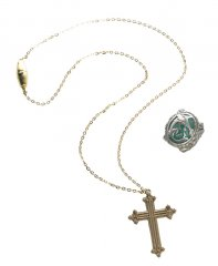 Disney Pirates of the Caribbean Angelica Cross Necklace & Ring