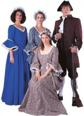 Colonial Lady With Paniers Color: BN,BU,PK S, M, L