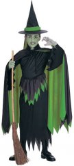 Wicked Witch Child Costume Wizard of Oz Sizes S, M, L