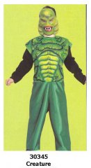 Creature from the Black Lagoon Child Costume Sizes S,M,L
