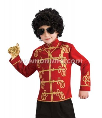 Michael Jackson RED MILITARY JACKET Child Costume PRE-SALE