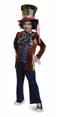Mad Hatter Child Deluxe Costume Size S,M,L