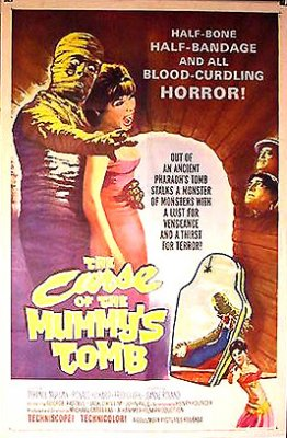 Curse of the Mummy's Tomb 1964 ORIGINAL LINEN BACKED 1SH