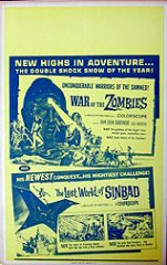 WAR OF THE ZOMBIES / LOST WORLD OF SINBAD Combo