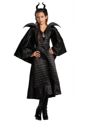 Maleficent Christening Black Gown Child Deluxe Costume