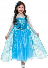 Frozen Elsa Style Ice Queen Girls Deluxe Costume