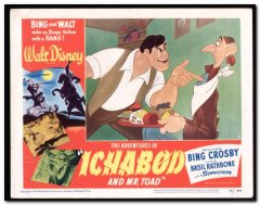 Adventures of Ichabod and Mr. Toad Walt Disney Bing Crosby Basil Rathbone