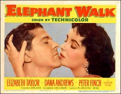Elephant Walk Elizabeth Taylor Dana Andrews Peter Finch both pictured