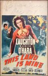This Land is Mine Charles Laughton Maureen O'hara