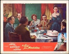 GIRL FROM MANHATTAN Dorothy Lamour, George Montgomery, Charles Laughton 1948 # 6