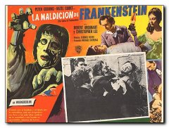 Curse of Frankenstein Peter Cushing Christopher Lee
