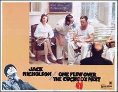 One Flew Over the Cuckoo's Nest Jack Nicholson pictured
