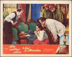 GIRL FROM MANHATTAN Dorothy Lamour, George Montgomery, Charles Laughton 1948 # 5