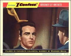 I Confess Montgomery Clift pictured Anne Baxter Hitchcock
