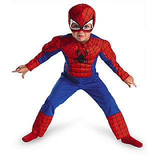 Spider-Man Child Toddler Muscle Costume TODD 3T- 4T