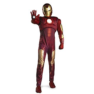 Iron Man Classic Adult Super Deluxe Costume STD, XL
