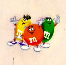 M&M's advertising animation art