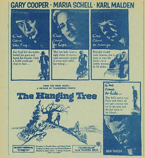 HANGING TREE Gary Cooper, George C.Scott