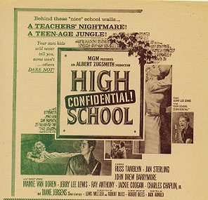 HIGH SCHOOL CONFIDENTIAL Jerry Lee Lewis, Rock'N'Roll