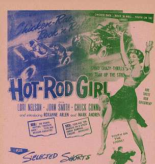 HOT-ROD GIRL Lori Nelson, Chack Conners