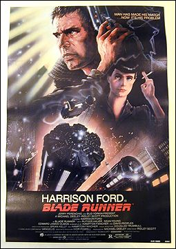 Blade Runner Harrison Ford Sean Young 1982 Original poster Linen backed 1SH