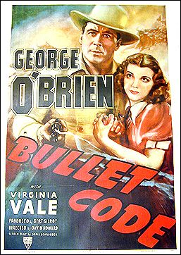 Bullet Code George O'Brian 1940 ORIGINAL LINEN BACKED 1SH