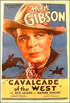 Cavalcade of the West Hoot Gibson 1936 morgan litho linen backed