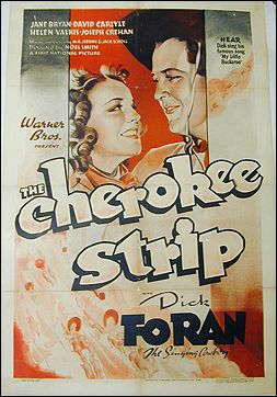 Cherokee Strip Dick Foram 1937 ORIGINAL LINEN BACKED 1SH