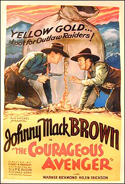 Courageous Avenger Johnny Mac Brown 1936 Linen backed